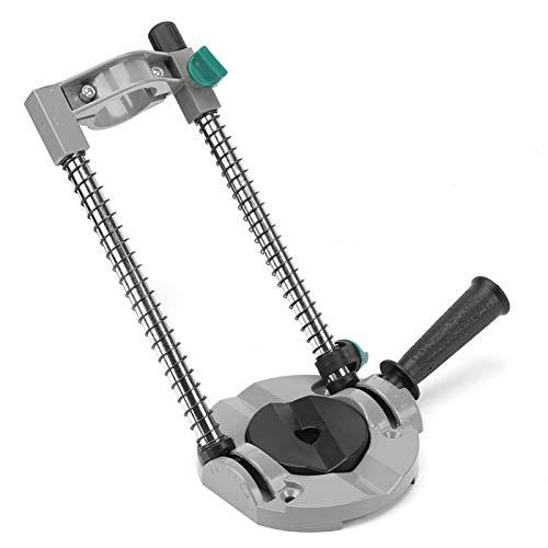 Fockety Guía de Taladro, Soporte de Taladro, Soporte de posicionamiento Herramientas e Instrumentos de posicionamiento Soporte de Taladro de ángulo Ajustable de 45 Grados para Taladro eléctrico