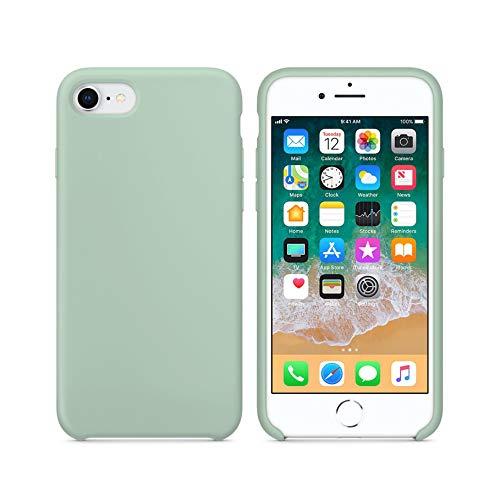 Capa Case Capinha Silicone Interior Aveludado para iPhone 7/8 / SE2 - Verde Água Claro