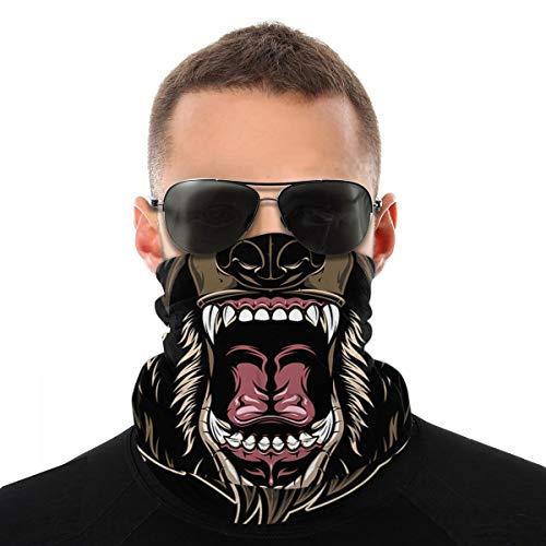 EU Head A Féroce Grizzly Bear Sun Mask Dust Wind Neck Guêtre Demi-masque pour moto, équitation, bandana sans couture, masque pour la pêche, la chasse, le cyclisme, les hommes et les femmes