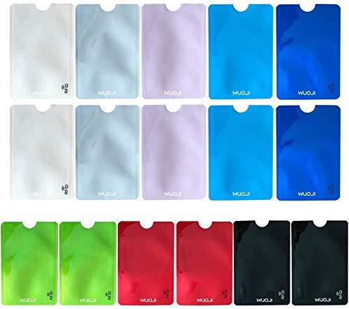 Eono Juego de fundas de bloqueo RFID (juego de fundas protectoras de tarjetas de crÃdito, colores únicos), multicolor (Multicolor) - LMKT-SQ-Color16