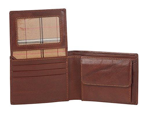 """Visconti portafoglio di pelle da uomo a piegatura tripla """"Monza"""" Italian Leather Wallet (MZ4): (marrone (brown))"""