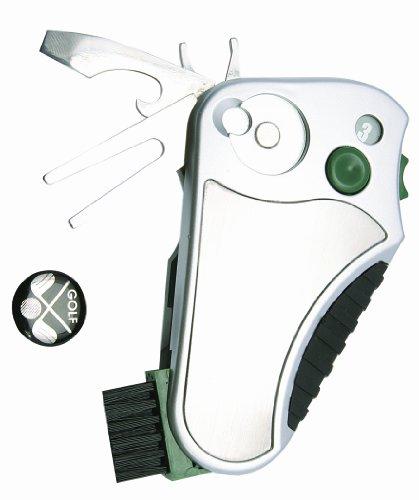 Delk 40041 Golf Buddy All-In-One Golf Tool, Silver