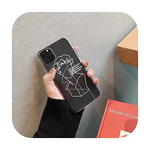 wukuli Schutzhülle für iPhone 7 XS MAX 11 Pro 12 X XR SE20 8 6Plus, weiche TPU-Hülle, Coque Bag-Style 3 für iPhone 7