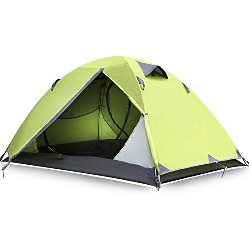 TentDouble Layer Aluminum Poles Ultralight 2 Person Waterproof 3 Season Camping Tent Beach Tent,Fruit green