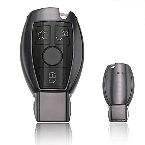 QMZDXH Funda Protección para Llave Coche para Mercedes Benz, Funda de Protección para Llave Coche Keyless Botones para Nuevo A C E S CLA GLA GLC GLE GLK G R CLS SLK AMG