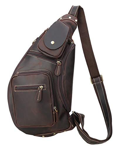 Polare Cool Real Leather Cross Body Sling Backpack