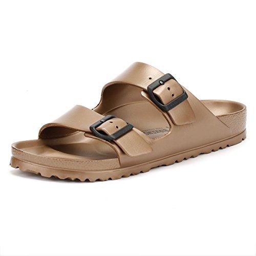 Birkenstock Schuhe Arizona Eva Schmal Metallic Copper (1001500) 37 Braun