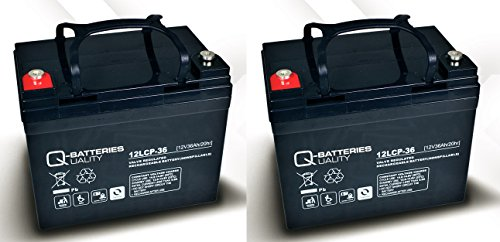 Ersatzakku für Rollstuhl Ortopedia Compact 920 N 36 zyklenfest AGM Batterien 12V 36Ah