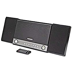 MAGNAVOX MM444BT 3-Piece CD Shelf System with Digital PLL FM Stereo Radio and Bluetooth Wireless Technology in Grey   CD-R/CD-RW Compatible   Alarm Clock Function  