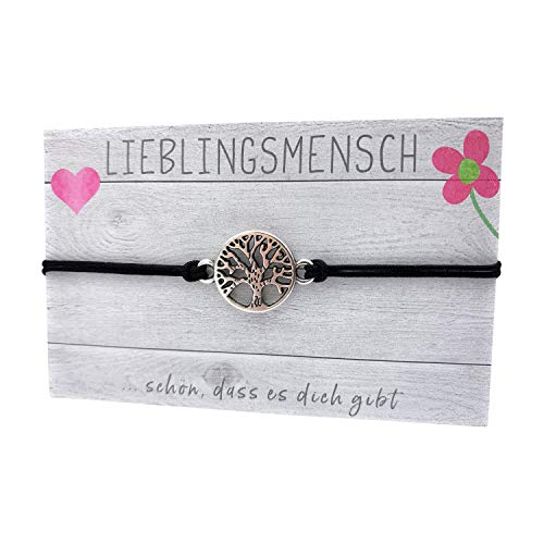 stella-diamonds Feine Zarte Armbänder - Damen Makramee Lebensbaum Armband - Mädchen Schwester Textil-Armband Filigran - Glücksbringer Love Stoff-Armband - Handmade Armkettchen dünn