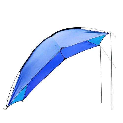 GH-YS SUV Awning Sun Shelter, Waterproof Trailer Awning, Portable Car SUV Awning Tent Sun Shelter Canopy, Tailgate Tent Roof Top Canopy for Beach, Camping, Patios and Backyard Parties,Blue
