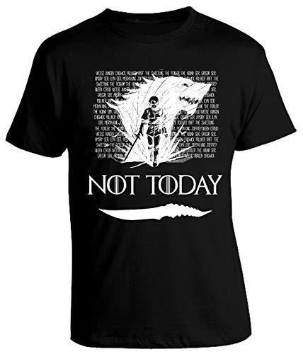 Tshirt Game of Thrones Arya Stark - Not Today - Got 8 - Season 8 - Il Trono di Spade - Serie TV