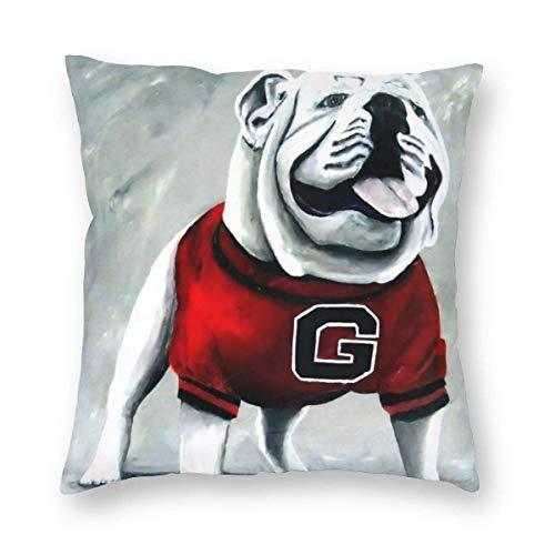UGA Georgia Bulldogs - Funda de almohada estándar para mascota (45,7 x 45,7 cm)