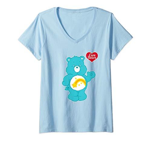 Womens Care Bears Wish Bear V-Neck T-Shirt