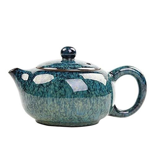 Yo Teiera Teiera in Ceramica Insieme di tè Celadon Yixing Ceramica Arts Cinese teiera in Porcellana Yixing Argilla Antico Office Home teiera Durevole (Color : Green)