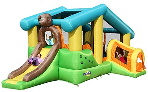 WNN-URG Kids Bouncy Castle Children's Inflatable Castle Outdoor Trampoline Large Indoor Playground Inflatable Bouncer Bounce House (532*347*262cm) URG