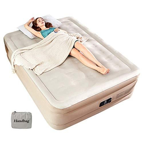 WLD Cómoda cama inflable Cama de aire de tamaño doble con bomba...