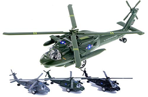 Playmaker Toys 10' Blackhawk Helicopter Die Cast Model Toy (Colors May Very)