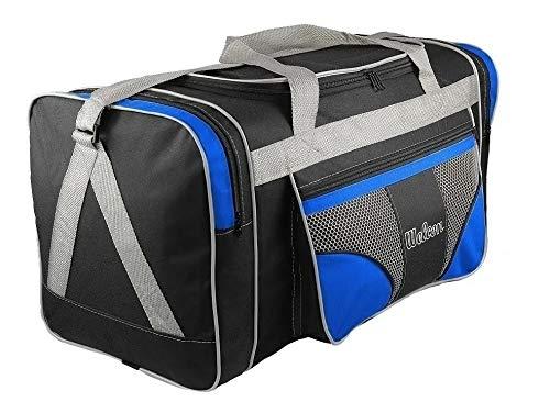 Bolsa Mala De Viagem Grande 112l Alças De Mão E Ombro (Preto/Azul)