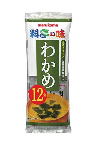 スマートマットライト マルコメ 生みそ汁 料亭の味わかめ 即席味噌汁 12食×12袋