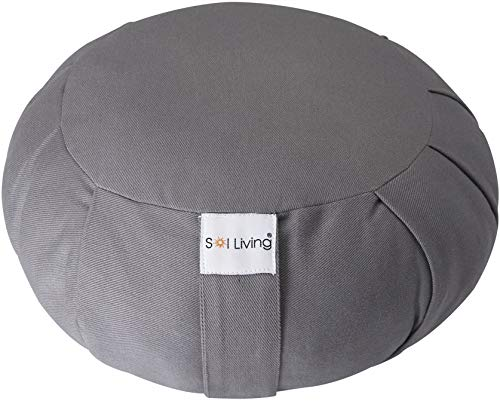 Sol Living Yoga Bolster Organic Cotton & Meditation Cushion Full Back Support & Core...