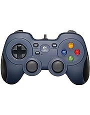Logitech G F310 Gamepad, Gaming controller, console layout, 4 sWitch D-pad, 1.8meter kabel, PC/Steam/Windows/enroidTV - grijs/Zwart (Duitse verpakking)