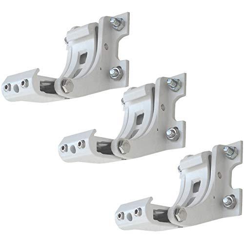 Mendler 3X Wandhalterung für Markise T124, Wandkonsole Wandmontage Adapter - weiß