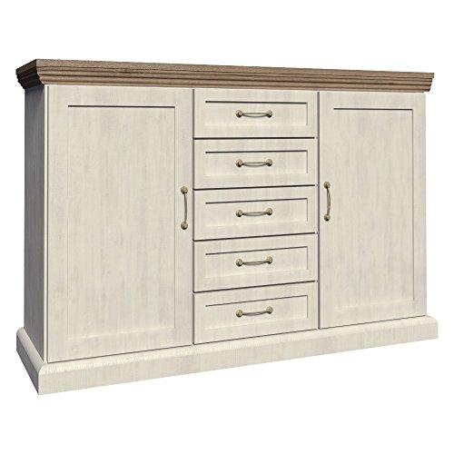 Furniture24 Kommode ROYAL K2D, Wohnzimmerschrank, Sideboard mit 3 Türen und 4 Schubladen