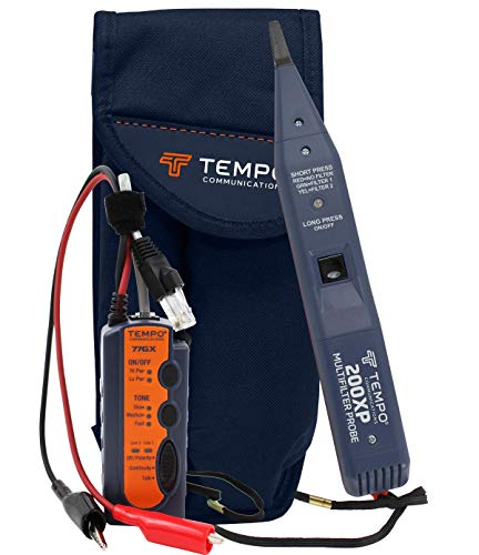 Tempo Communications 811K Digital High Performance Tone Generator and Probe Kit - Professional Wire Tracer Kit (Latest Model)