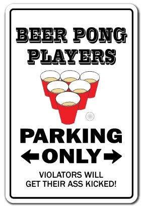 Catneza - Juego de mesa de juegos de estaño para beber, diseño de Beer Pong Players ~ Sign~ Drinking Game Games Funny Gift Art Decoration
