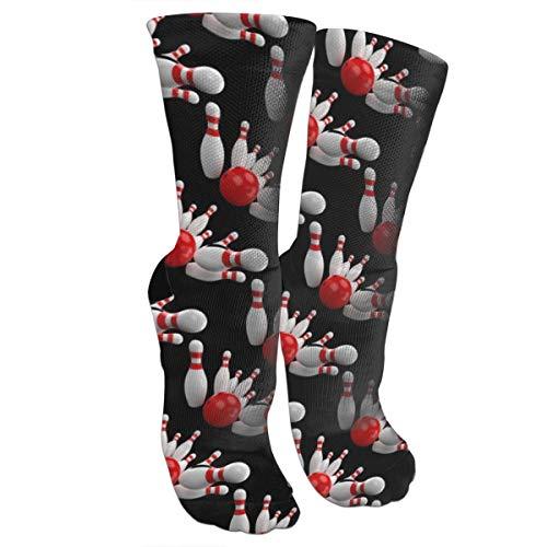 Sport Bowling Kompressionssocken Unisex Bedruckte Socken Crazy Gemustert Spaß Lange Baumwolle Socken über der Wade Tube