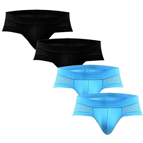 TIGERROSA Calzoncillos Boxer para Hombre 4 Pcs Men Underwear Slip Hombre Briefs Ropa Interior Hombre…