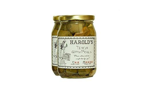 Harold's Spicy 4X Habanero Dill Pickle 2/16oz Jars