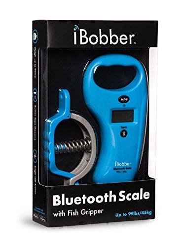 Reelsonar Ibobber Bluetooth Waage Ibobber Bluetooth Fischwaage Maßband 45 kg & Fisch Lippengriffer, Blau