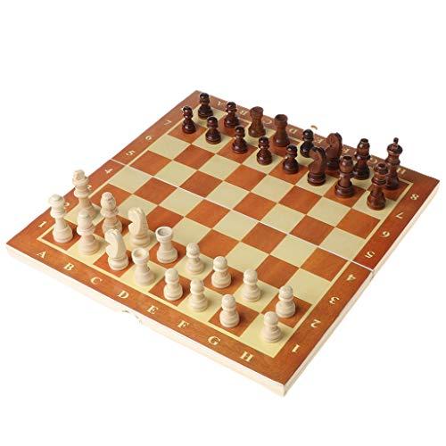 PTMD Juego de ajedrez internacional de madera 3 en 1, tablero de ajedrez de madera de 30 x 30 cm con piezas de ajedrez, juegos de mesa de viaje y ajedrez para niños y adultos