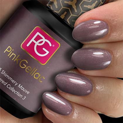 Pink Gellac UV Nagellack 225 Shimmery Mauve. Professionelle Gel Nagellack shellac für mindestens 14 Tage perfekt glänzende Nägel