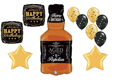 Whiskey Party Balloon Set Aged to Perfection Whisky 11pc Set 30th Birthday 40th 50th 60th