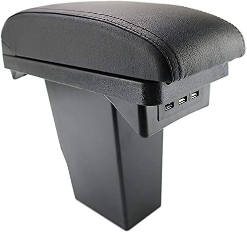 Coche Cuero Caja de Reposabrazos para Peugeot 2008, Con Puerto USB Consola Central Doble Capa Apoyabrazos Almacenamiento Organizador Accesorios