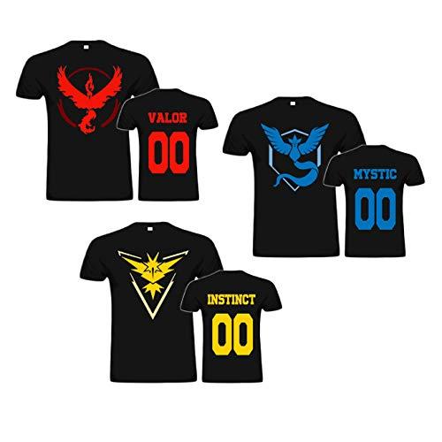 Camiseta Pokémon Go - Equipo Instinto,Valor y Místico (XL, Instinct)