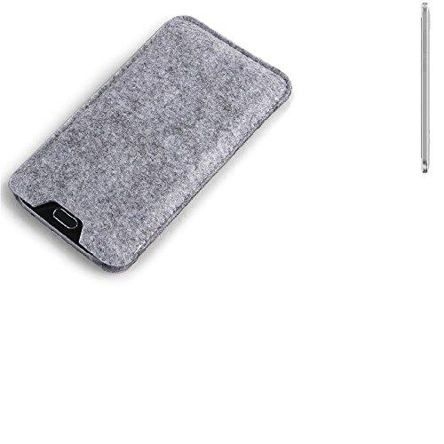 K-S-Trade® Filz Schutz Hülle Für Cubot Z100 Schutzhülle Filztasche Filz Tasche Hülle Sleeve Handyhülle Filzhülle Grau