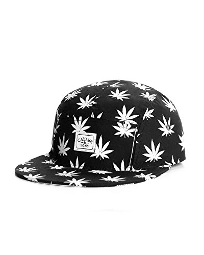 Cayler And Sons - Casquette 5 Panel Homme Leafs n Stripes 5 Panel Cap - Black/White