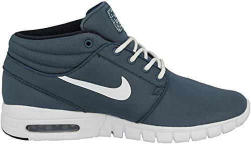Nike Stefan Janoski MAX Mid, Zapatillas de Skateboarding para Hombre, Azul/Blanco (Sqdrn Bl/White-Drk Obsdn-White), 40 1/2 EU