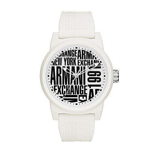Armani Exchange Reloj Analógico para Hombre de Cuarzo con Correa en Silicona AX1442