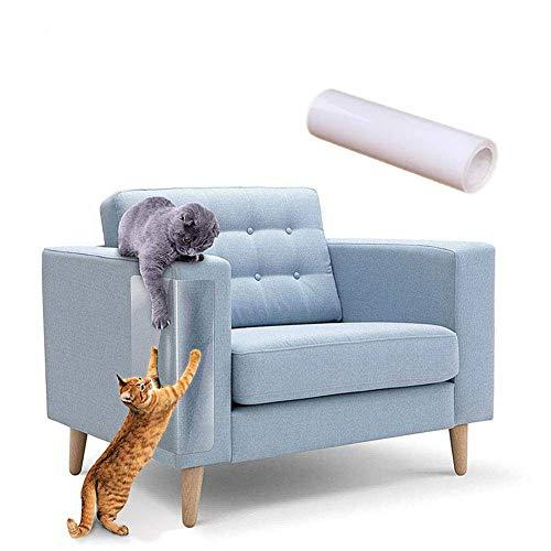 Auxsoul 6 Piezas de Protector de Muebles de Gato Protector contra Rayones de Sofá para Gatos, Protectores Anti-Arañazos para Muebles con 30 Tornillos