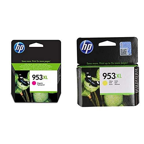 INK CARTRIDGE NO 953XL MAGENTA SUPL BLISTER + 953XL F6U18AE, Amarillo, Cartucho de Tinta de Alta Capacidad Original, compatible con impresoras de inyección de tinta