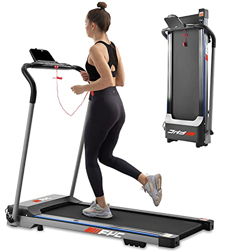 FYC Folding Treadmill for Home - Slim Compact Running Machine Portable Electric Treadmill Foldable Treadmill Workout Exercise for Small Apartment Home Gym Fitness Jogging Walking, No Installation