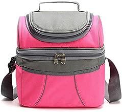 أيس باك حقيبة غذاء لون اخضر للنساء - حقيبة مدرسية مع سحاب و حزام للكتف قابل للتعديل - حقيبة غداء للأطفال - وردي