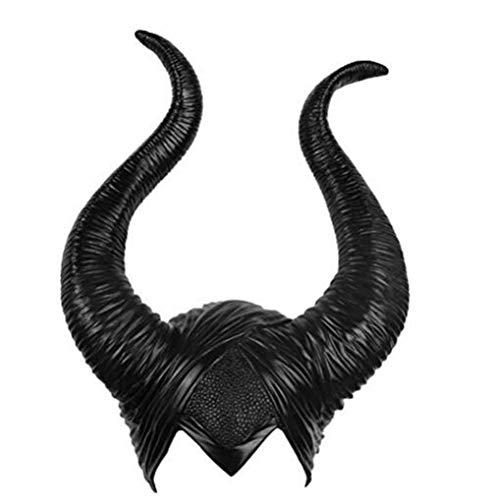 Black Sugar Malfico Sombrero de cuernos de ltex para adulto, para mujer, disfraz de Halloween