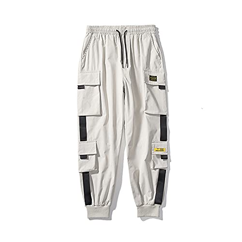 N\P Primavera Delle Donne Vita Alta Pantaloni Cargo Inverno Sport Sciolto Pantaloni Harajuku, cachi, L