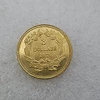 絶妙なコインアンティーク手工芸品アメリカ合衆国18763ゴールドコインシルバーダラーシルバーラウンド外国貿易コレクション